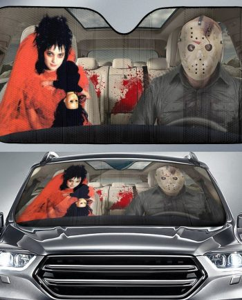 Jason Voorhees Beetlejuice Auto Sun Shade Car Sun Shade