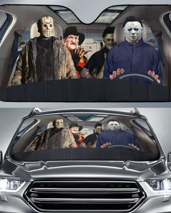 Horror Halloween Slashers Squad Auto Sun Shade Car Sun Shade