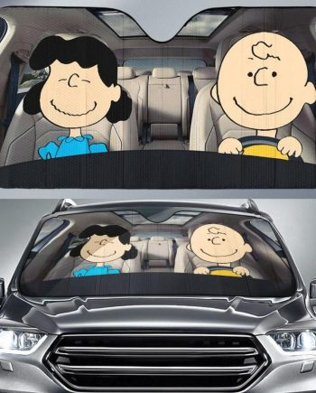 Charlie Brown and Lucy Auto Sun Shade Car Sun Shade