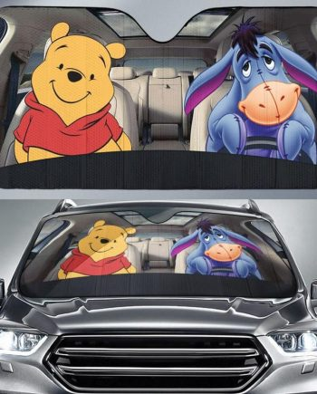 Eeyore and Pooh Friends Auto Sun Shade Car Sun Shade