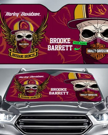 Brisbane Broncos Car Sunshade Personalized Name
