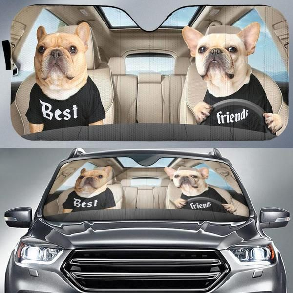 French Bulldog Auto Car Sunshade 01VT KWP408