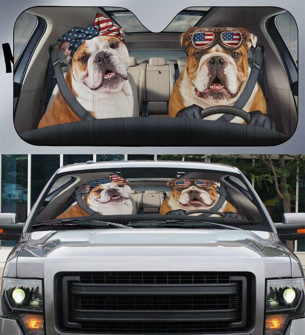 Bulldog Flag Auto Car Sunshade 30VT KWP398
