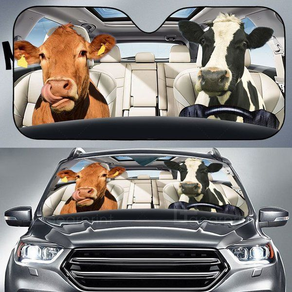 Cow Auto Car Sunshade 04VT CP KWP379