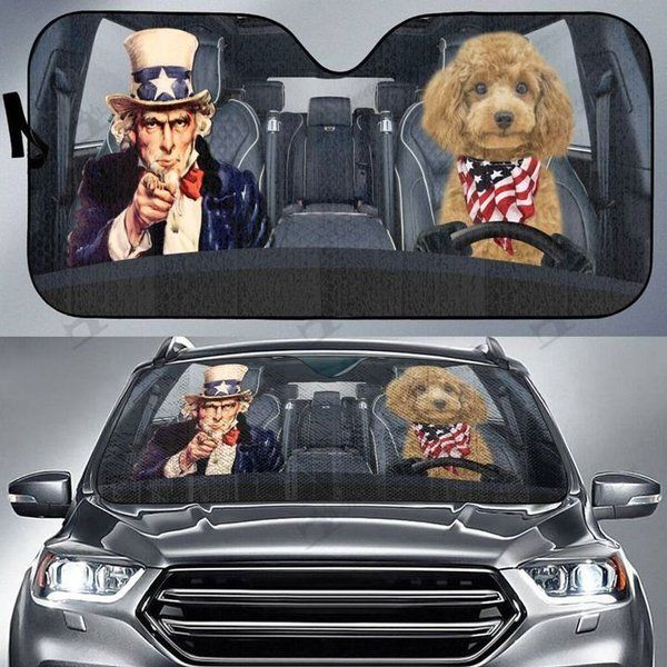 Poodle Auto Car Sunshade 30VT KWP365
