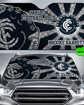 Carlton Football Club 226 SunShade Personalized Name