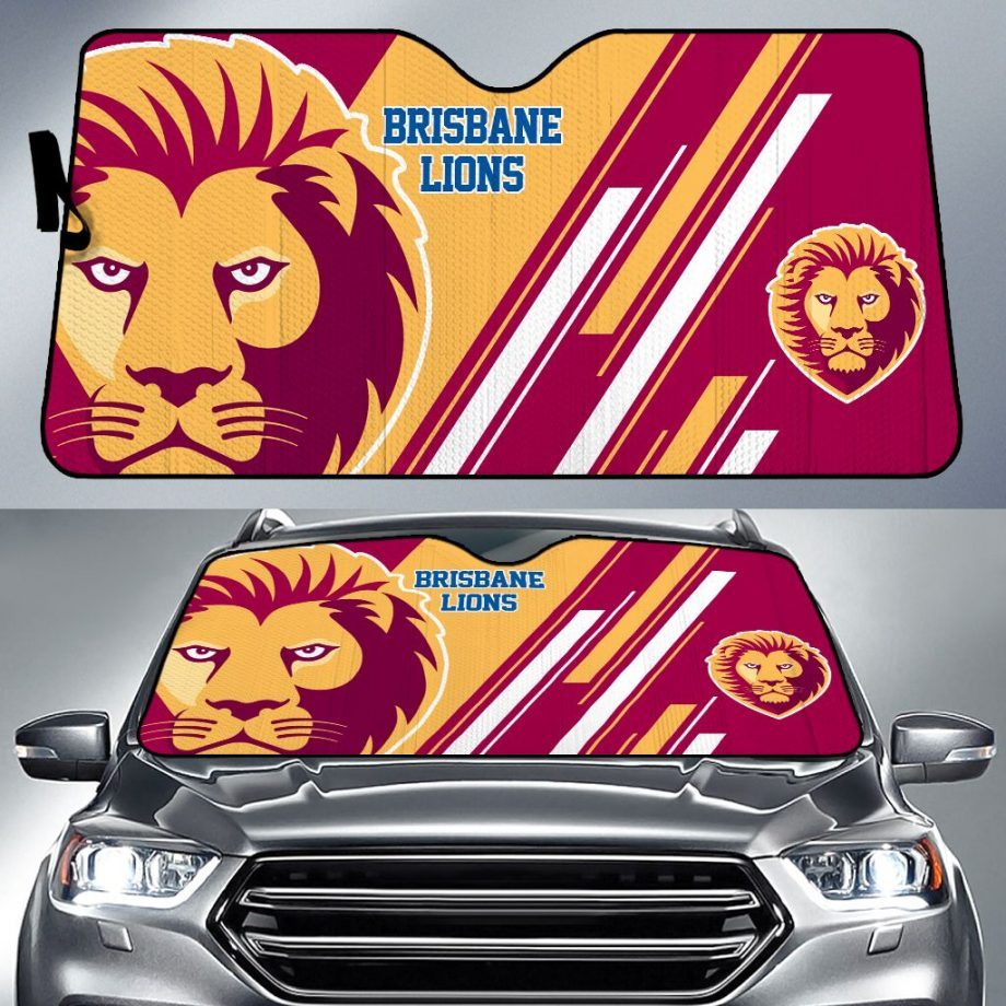 Brisbane Lions Car Sun Shade Personalized Name