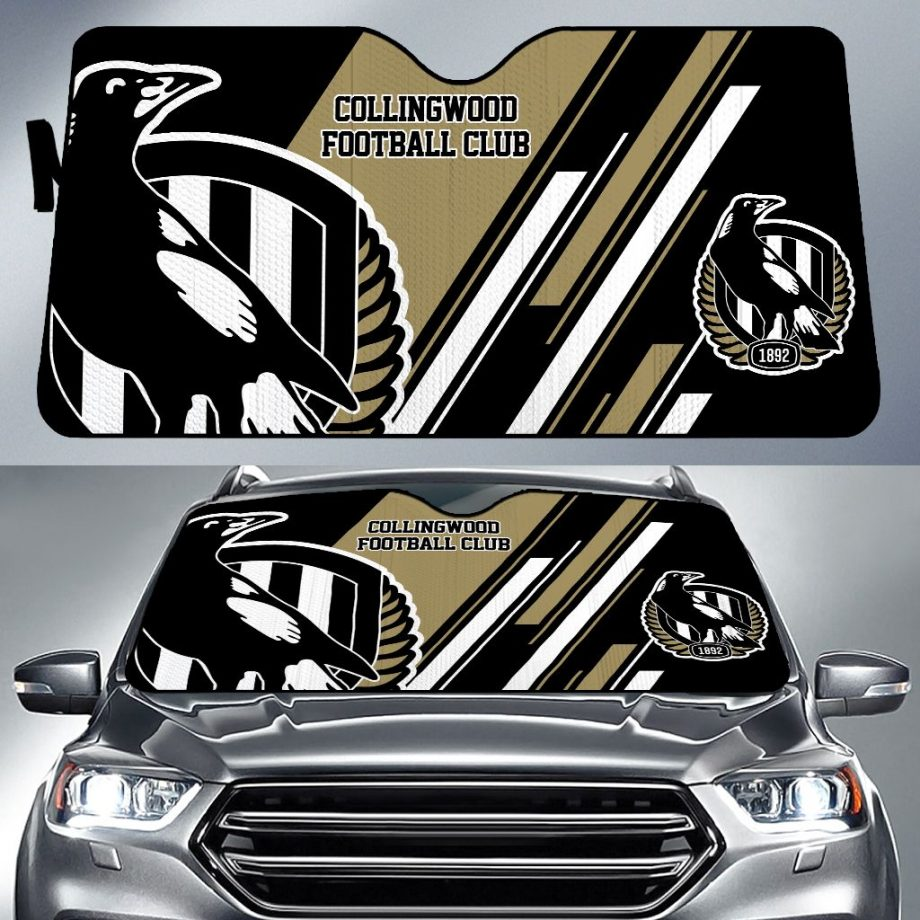 Collingwood Football Club Car Sun Shade