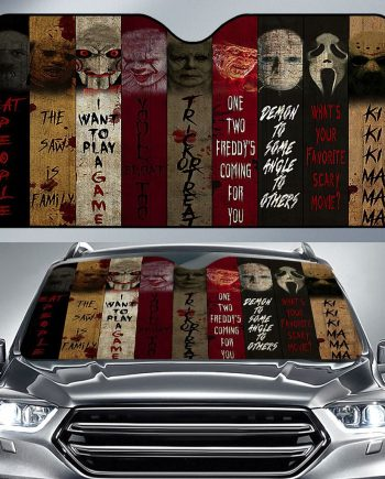 Horror Halloween Car Sun Shade