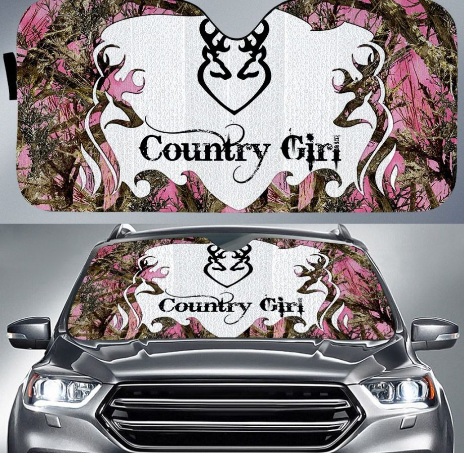 Country Girl Auto Car Sunshade 15VT KWP338